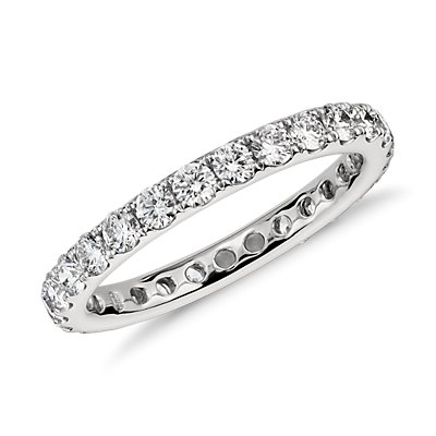 Riviera Pavé Diamond Eternity Ring in Platinum (1 ct. tw.)