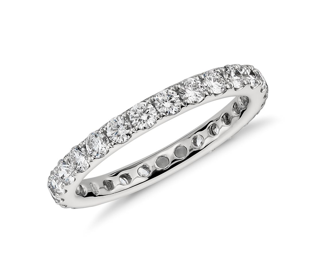 Riviera Pavé Diamond Eternity Ring In Platinum (1 Ct Tw)