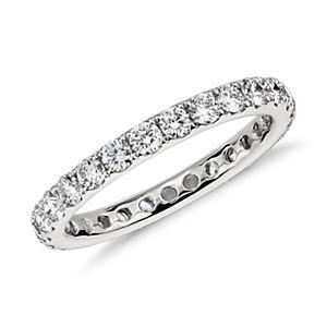 Riviera Pavé Diamond Eternity Ring in Platinum (1 ct. tw.)