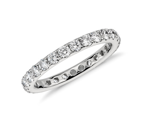 diamond eternity solid bands wedding band stackable ct ring gold white endless