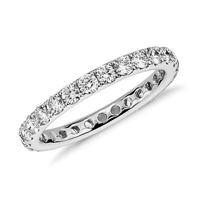 Riviera Diamond Eternity Ring in 14k White Gold (0.95 ct. tw.)