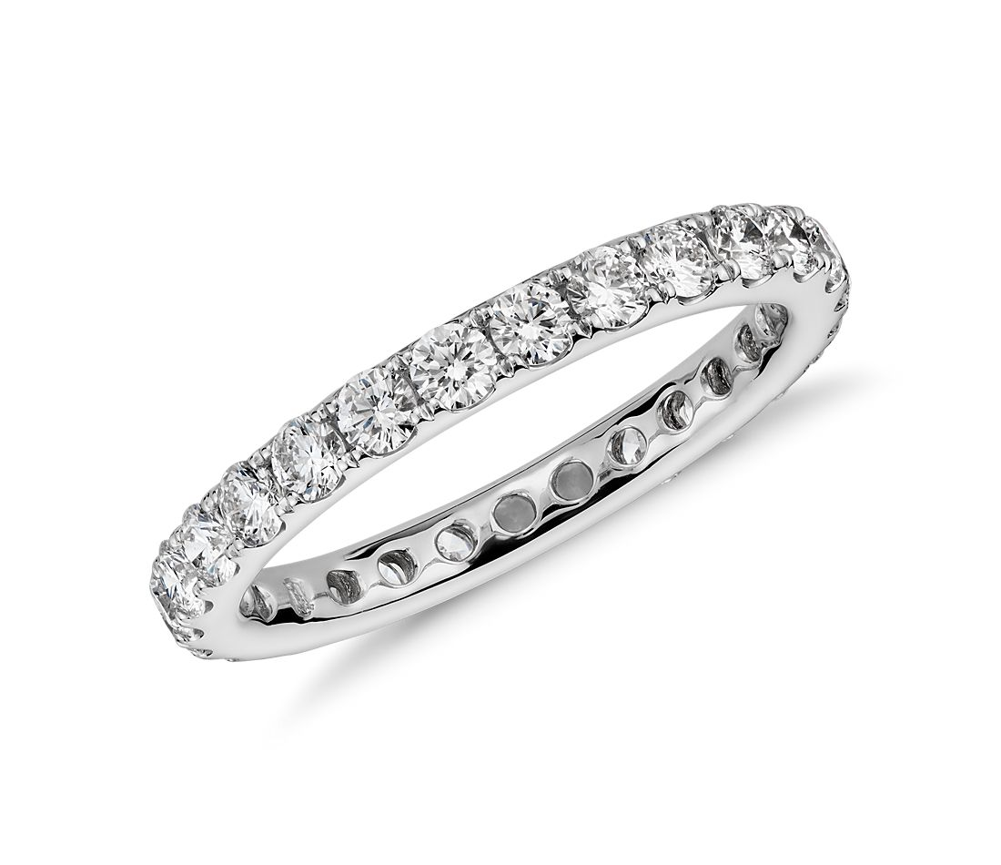 Riviera Pavé Diamond Eternity Ring in 14k White Gold, 1 ct. tw.