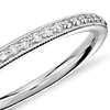Riviera Pavé Heirloom Diamond Ring in 14k White Gold (1/8 ct. tw.)
