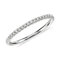 Riviera Petite Micropavé Diamond Eternity Ring in 14k White Gold