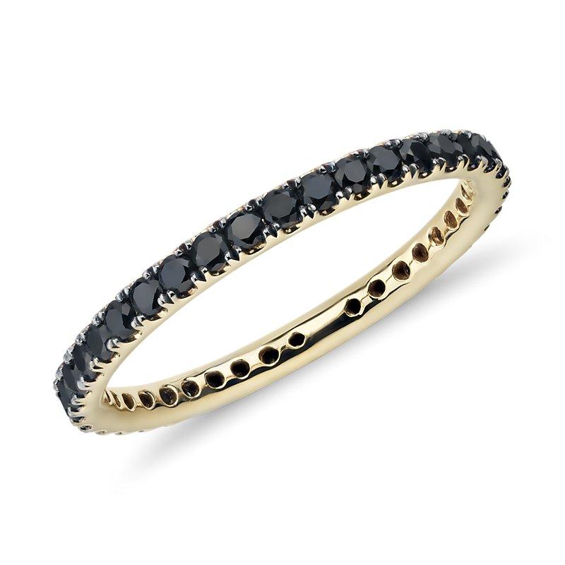 Riviera Noir Black Diamond Ring in 18k Yellow Gold (1/2 ct. tw.)
