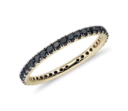 18k 金 Riviera Noir 黑钻戒指<br>(1/2 克拉总重量)