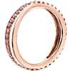 Riviera Pavé Pink Sapphire Infinity Eternity Ring in 14k Rose Gold (1.5mm)