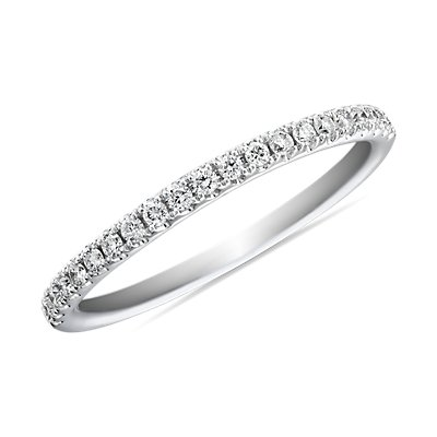 Riviera Pavé Diamond Ring in Platinum (1/6 ct. tw.)