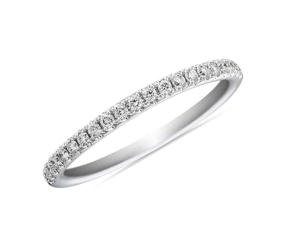 Riviera Pavé Diamond Ring in Platinum (0.15 ct. tw.)