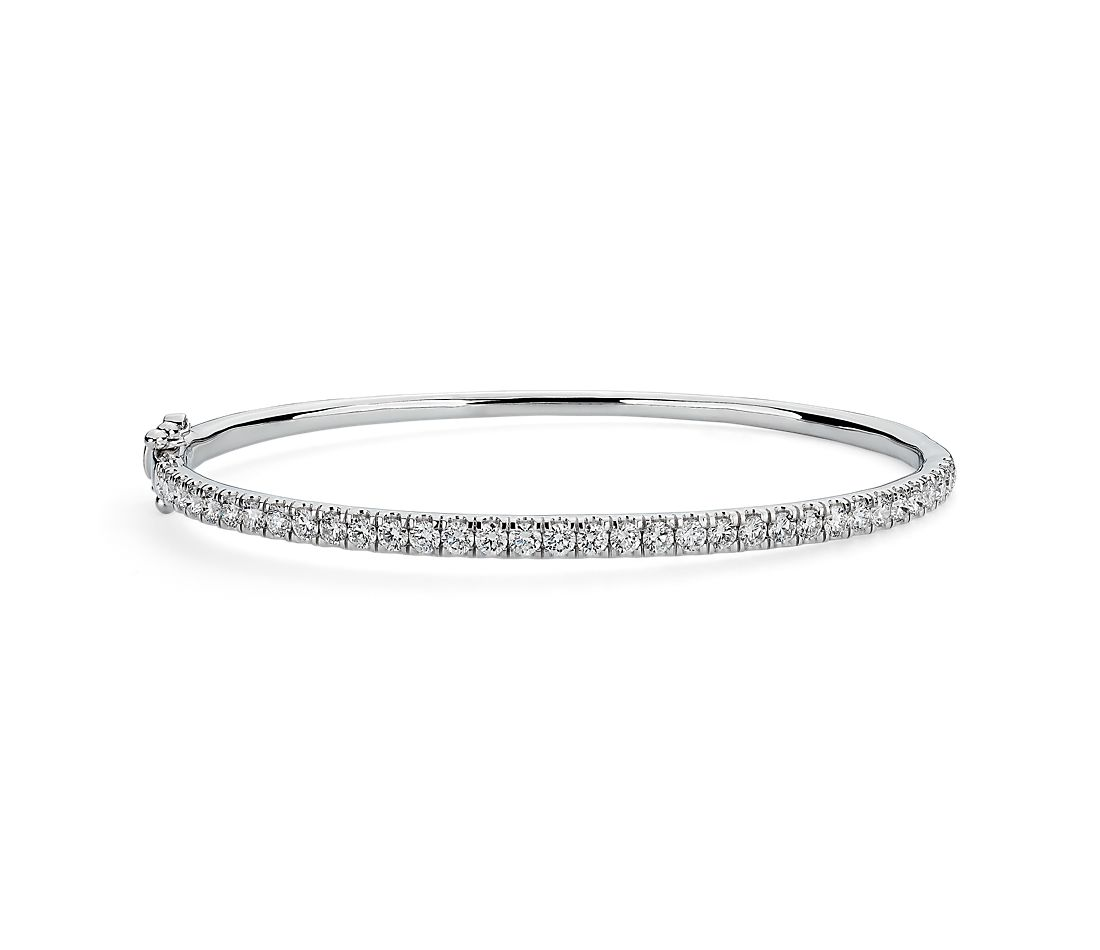 Riviera Pavé Diamond Bangle in 14k White Gold (1 1/2 ct. tw.)