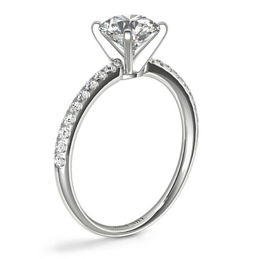 Riviera Pavé Diamond Engagement Ring