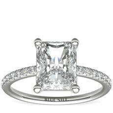 Riviera Pavé Diamond Engagement Ring
