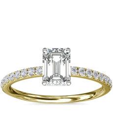 Bague de fiançailles Riviera en diamants sertis pavé en or jaune 18carats (1/6carat, poids total)