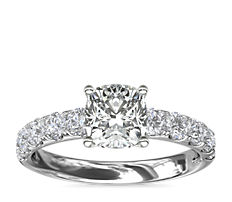 Riviera Pavé Diamond Engagement Ring in 14k White Gold (5/8 ct. tw.)