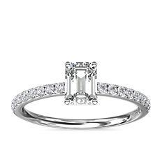 Riviera Pavé Diamond Engagement Ring in Platinum (0.15 ct. tw.)