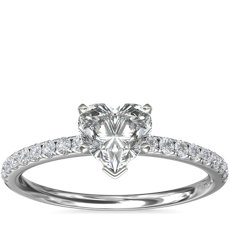 Riviera Pavé Diamond Engagement Ring in Platinum (0.15 ct. tw.)