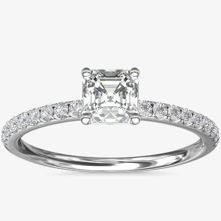 Asscher Engagement Ring