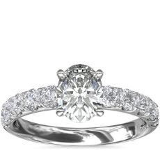 鉑金Riviera 密釘鑽石訂婚戒指(5/8 克拉總重量)