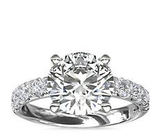 Riviera Pavé Diamond Engagement Ring in Platinum (0.67 ct. tw.)