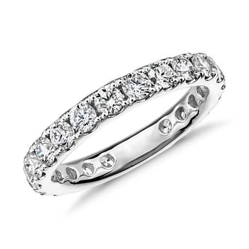 Riviera Pavé Diamond Eternity Ring in 18k White Gold - H / VS2  (1.5 ct. tw.)