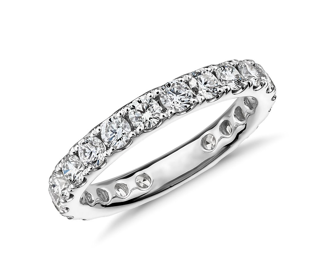 Riviera Pavé Diamond Eternity Ring in 18k White Gold - H / VS2  (1.5 ct. tw.)