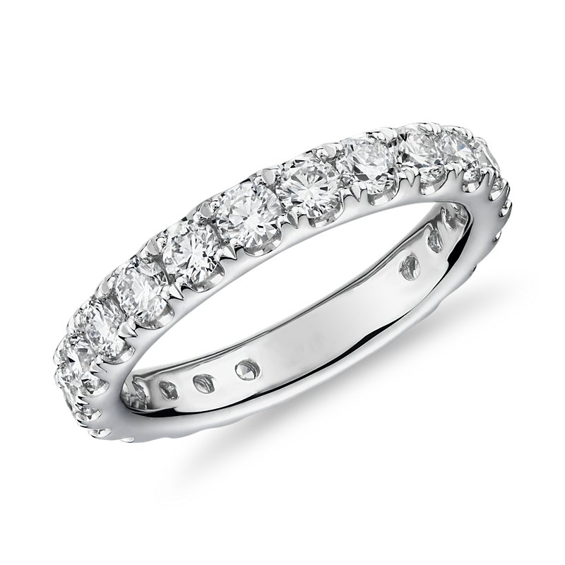 Riviera Pavé Diamond Eternity Ring in Platinum (2 ct. tw.)