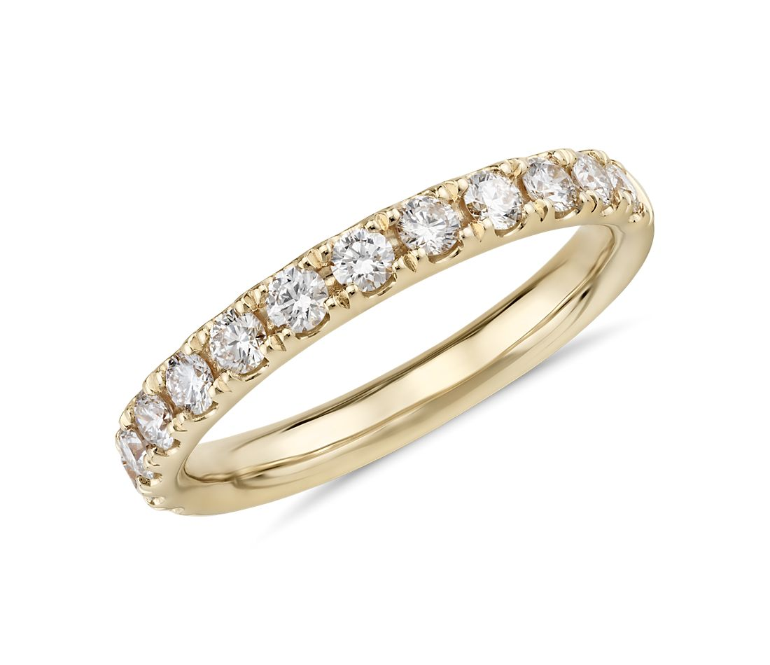 Riviera Pavé Diamond Ring in 14k Yellow Gold (1/2 ct. tw.)