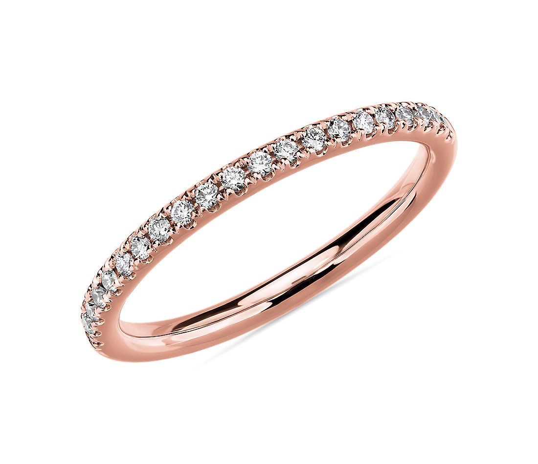 Riviera Pavé Diamond Ring in 14k Rose Gold (1/6 ct. tw.)