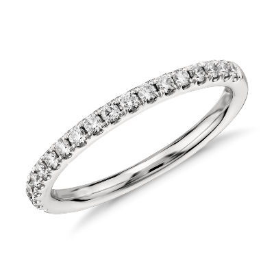 Riviera Pav Diamond Ring in 14k White Gold 14 ct tw Blue Nile