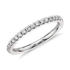 Riviera Pavé Diamond Ring In 14k White Gold 1 4 Ct Tw