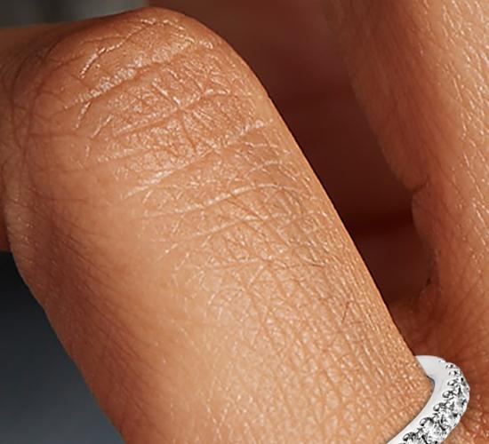 Bague en diamants sertis pavé Riviera en or blanc 14carats (1/4carat, poids total)