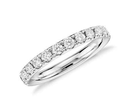 Riviera Pavé Diamond Ring in 14k White Gold (1/2 ct. tw.)