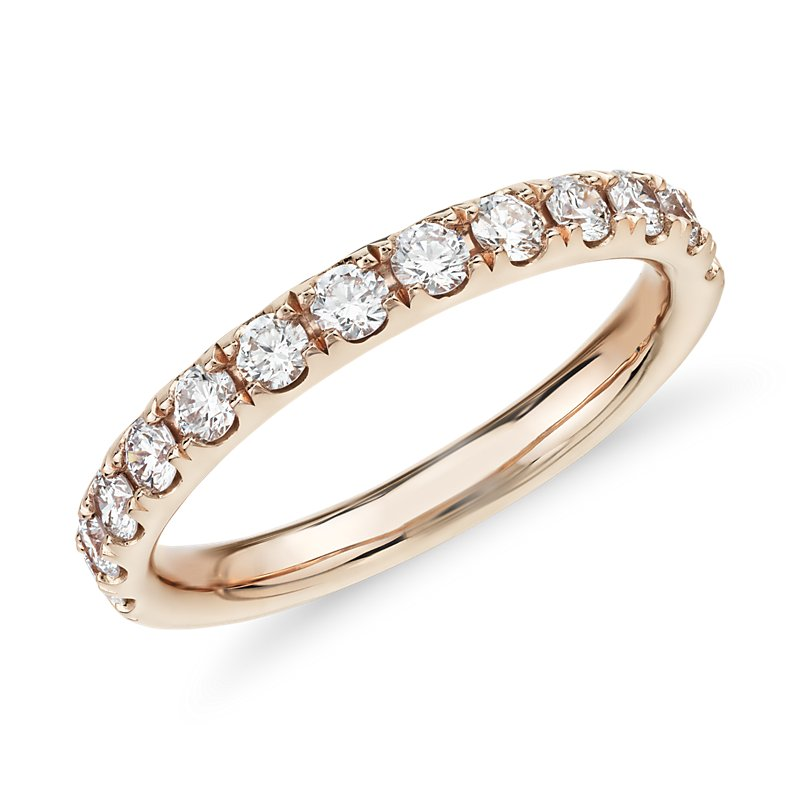 Riviera Pavé Diamond Ring in 14k Rose Gold (1/2 ct. tw.)