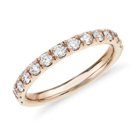 NEW Riviera Pavé Diamond Ring in 14k Rose Gold (1/2 ct. tw.)