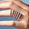 14k 白金Riviera 密釘鑽石戒指 (1 克拉總重量) 的第一個替代檢視圖