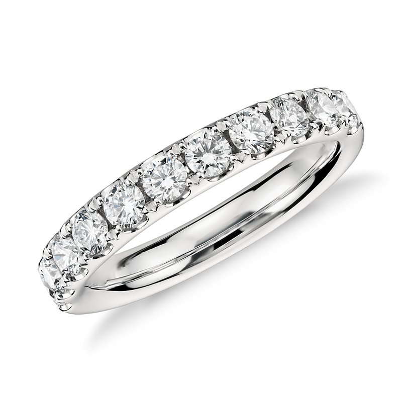 Riviera Pavé Diamond Ring in 14k White Gold (3/4 ct. tw.)