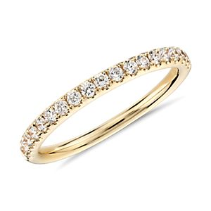 Bague en diamants sertis pavé Riviera en or jaune 18carats (1/4carat, poids total)