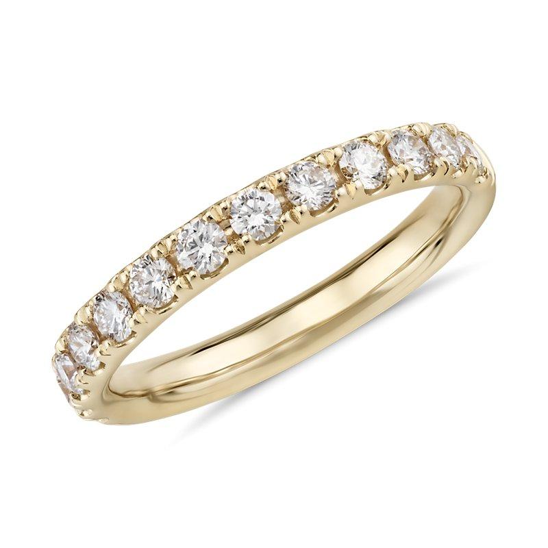 Riviera Pavé Diamond Ring in 18k Yellow Gold (1/2 ct. tw.)