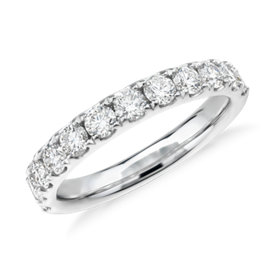 Riviera Pavé Diamond Ring in 18K White Gold - H / VS2 (1 ct. tw.)