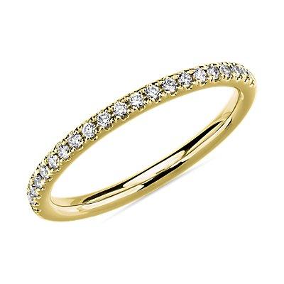 18k 金 Riviera 密钉钻石戒指(1/6 克拉总重量)