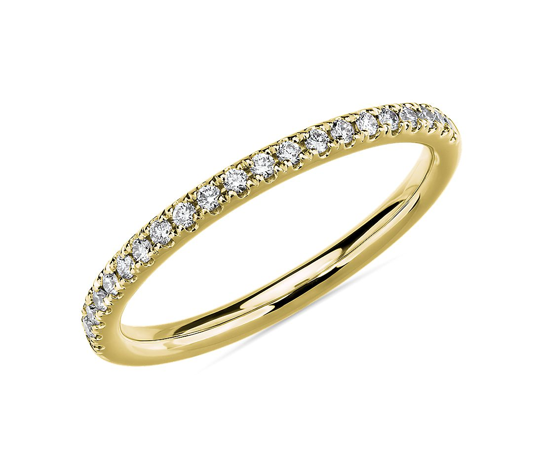 Riviera Pavé Diamond Ring in 18k Yellow Gold (1/6 ct. tw.)