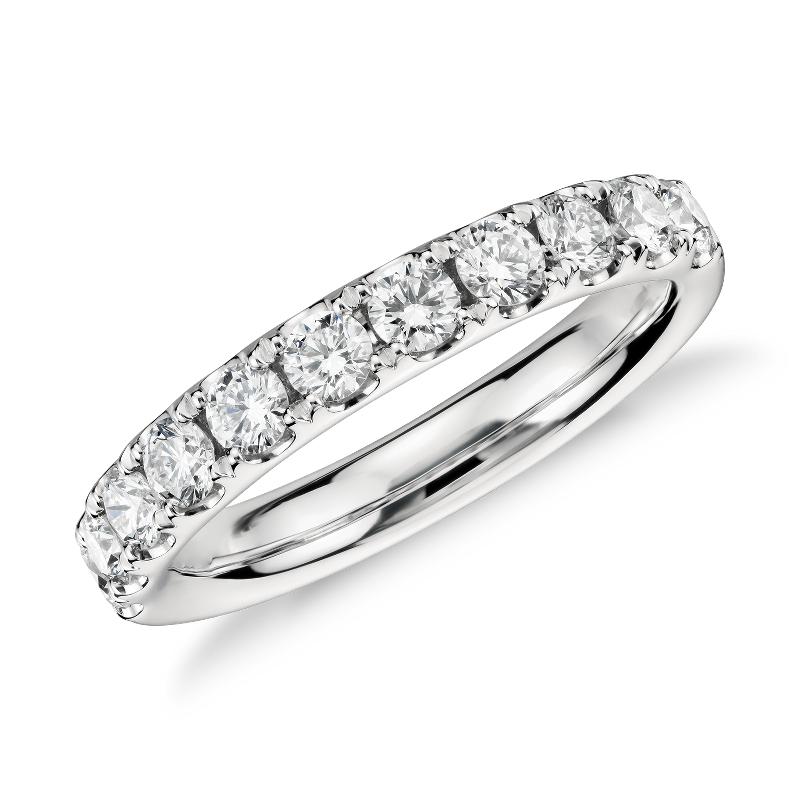 Riviera Pavé Diamond Ring in Platinum (3/4 ct. tw.)