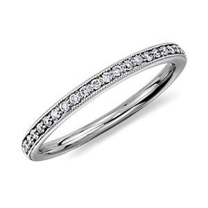 Riviera Pavé Heirloom Diamond Ring in Platinum (1/8 ct. tw.)