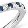 Riviera Micropavé Sapphire and Diamond Eternity Ring in 14k White Gold (1.5mm)