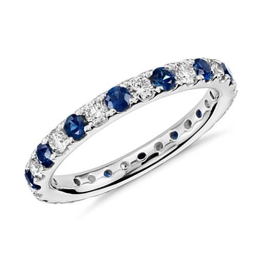 Riviera Pav 233 Sapphire And Diamond Eternity Ring In
