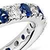 Riviera Pavé Sapphire and Diamond Eternity Ring in Platinum (2/3 ct. tw.)