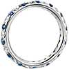 Riviera Pavé Sapphire and Diamond Eternity Ring in Platinum (1/2 ct. tw.)