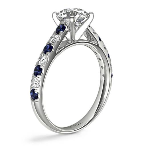 Riviera Pavé Sapphire and Diamond Engagement Ring