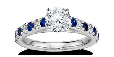 Engagement ring styles settings blue nile sapphire sidestones junglespirit Choice Image