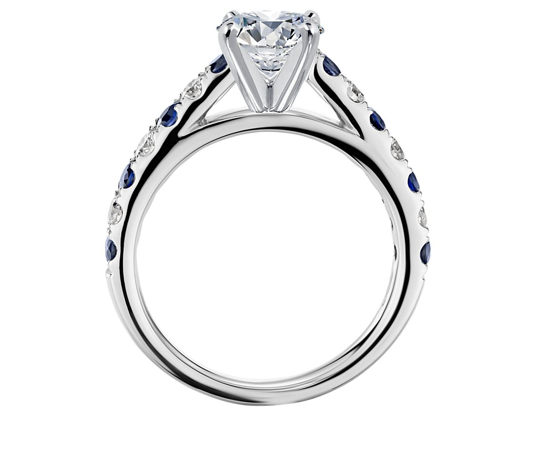 Riviera Pavé Sapphire and Diamond Engagement Ring in